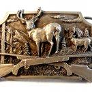 1982 Siskiyou Crossed Hunting Rifles Buck Deer Belt Buckle