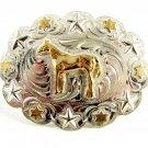 Silver Strike Horse Western Belt Buckle 11142013bd