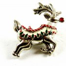 Rudolph The Red Nosed Reindeer Brooch Not Signed 81814