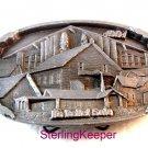 Vintage Siskiyou Mennonite Kansas Ks Relief Sale 1991 Belt Buckle