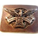 Vintage Registered Trademark E In Shield Quality Brand Belt Buckle