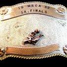 1982 MRCA Senior Finals Silver Calf Roping Western Cowboy Rodeo Bar J Belt Buckl