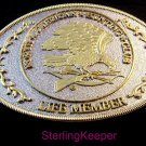 Vintage North American Hunting Club Life Member Belt Buckle