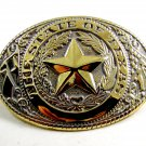 The State of Texas Goldtone & Silvertone Belt Buckle 2192014