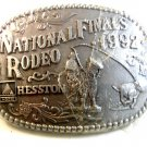 1992 National Finals Rodeo Belt Buckle by Hesston Mint In Plastic