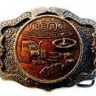 Vintage Reno Biggest Little City in The World Belt Buckle by Cal Metals