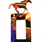 Running Horse Single Rocker Switch Cover Plate by Steel Images USA 6815ss