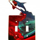 Shark Double Light Switch Cover Plate by Steel Images USA 42715