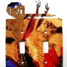 Pueblo Double Light Switch Cover Plate by Steel Images USA 030515A
