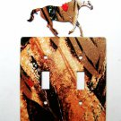Horse Running Double Light Switch Cover Plate by Steel Images USA 030315TT