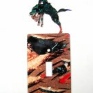 Rodeo Broncho Busting Cowboy Single Light Switch Cover Plate Steel Images USA