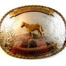 Vintage 1974 PHBA Y Palomino Horse Breeders of America Congress Belt Buckle