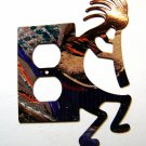 Kokopelli w/ Flute Double Outlet Cover Plate by LaZart 021915J
