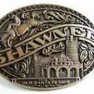1981 Shawnee OK Home of Old Santa Fe Days Belt Buckle By ADM 121514