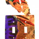 Cowgirl Kissing Horse Double Switch Outlet Cover Plate by Steel Images USA 6815