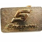 SNAP-ON 24kt Gold & Silverplate Solid Brass Belt Buckle By BTS 121514