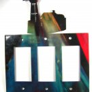 Lighthouse Triple Rocker Outlet Cover Plate by Steel Images USA 51515