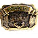 1980 Nevada Goldtone Belt Buckle by Great American Buckle Co. 12162013b