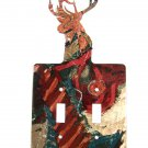 Buck Deer Head Double Switch Outlet Cover Plate by LaZart USA 6915