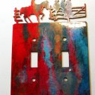 Cowboy Double Light Switch Cover Plate by Steel Images Made in USA 02161511111K