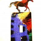 Large Horse Single Light Switch Cover Plate by Steel Images USA 6815RR