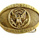 United States of America Brass Belt Buckle 62714a