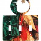 Man In Moon Triple Light Switch Plate by Steel Images Made In USA 6215x