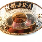 1967 NMJRA Reserve Champion Cowgirl Rodeo Belt Buckle