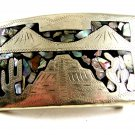 Mexican Alpaca Abalone Belt Buckle 12022013