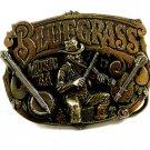 1982 Great American Buckle Co Bluegrass Guitar Bango Belt Buckle 11042013