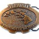 Hawaii Crossroads of The Pacific Belt Buckle