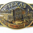 Texas Alamo Brass Belt Buckle By Heritage Mint Registered Collection 63015
