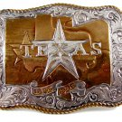 State of Texas 1836 - 1986 Sesqucentennial Belt Buckle 5714 by Crumrine