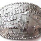 1992 National Finals Rodeo Cowboy Western Belt Buckle Mint