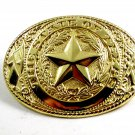 The State of Texas Goldtone Belt Buckle 2192014