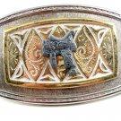 Western Silvertone Cowboy Saddle Belt Buckle #102113p