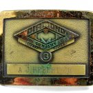 Diamond Company Safety Award A. J. Hebert Jr. Belt Buckle 10312013