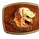 1979 English Setter Enameled Belt Buckle 51514 by Raintree