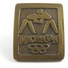Michigan Olympics ??? Wresting Brass Belt Buckle Not Marked 092314