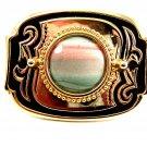 Cowgirl Western Pink Green Agate Belt Buckle 4102014