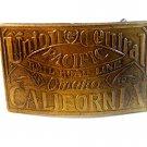 Union Central Pacific Railroad Line Omaha California Belt Buckle