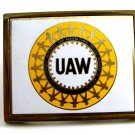 1983 UAW Solid Brass Belt Buckle by NAP Inc 82814