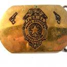 1980 Florida Peace Officers Association Brass Belt Buckle by Baron
