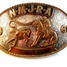 1968 NMJRA Sr. Breakaway Calf Roping Cowgirl Rodeo Belt Buckle