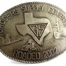 Texas GS Grocers Supply Company Roadeo 2002 Belt Buckle 8614