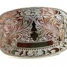 Western Silvertone Monogrammable Belt Buckle 10292013cf