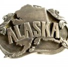 1984 Alaska The Great Land & Last Frontier Belt Buckle by Siskiyou 81914