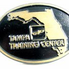 GP or CP Tampa Training Center Solid Brass Belt Buckle by Dyna Buckle 72214