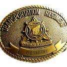 Transportation Regiment Spearhead of Logistics Brass Officer Belt Buckle 82814