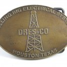 DRES-CO Houston Texas Drilling Rig Electrical System Belt Buckle Unmarked